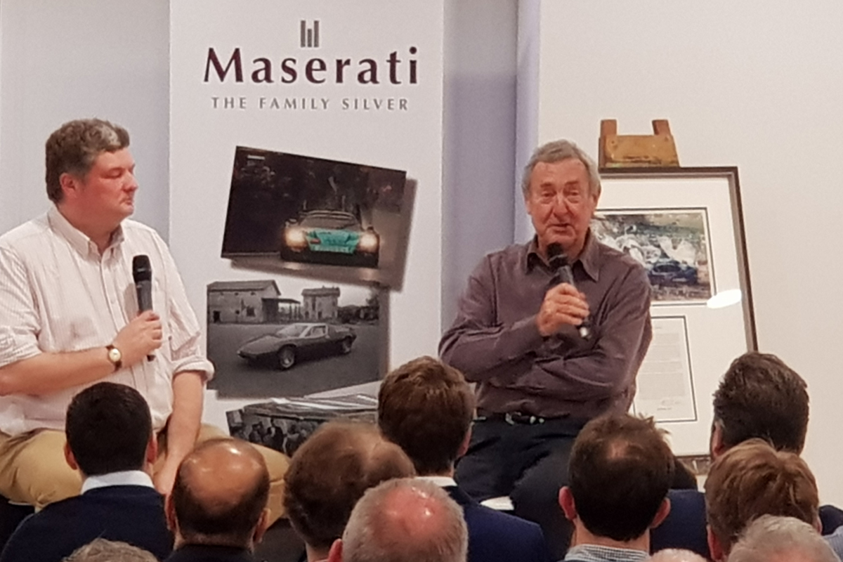 Nick-Mason-Speaking-at-Maserati-the-family-silver-book-launch